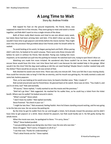 Reading Comprehension Worksheets Have Fun Teaching Reading Comprehension Worksheets 5th Grade