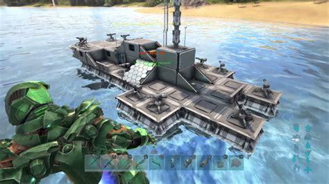 Ark Boat Youtube by Ark Survival Evolved Motorboat Assault Build Youtube