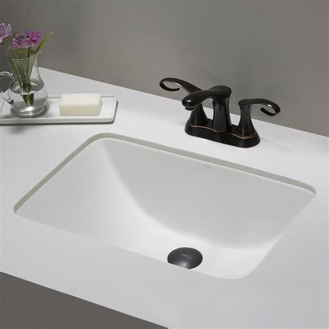 Small Rectangular Undermount Bathroom Sink ceramic sink kraususa
