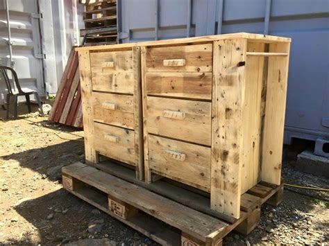 Multipurpose Pallet Chest Of Drawers
