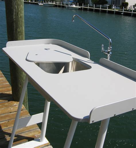 king starboard fish cleaning station 54 quot x 23 quot top welded aluminum base useful options