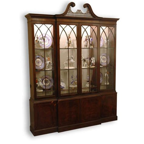 vintage baker mahogany breakfront china cabinet from rubylane sold on ruby