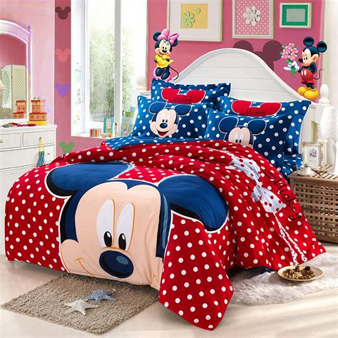 mickey mouse bedding set king size children 4pc