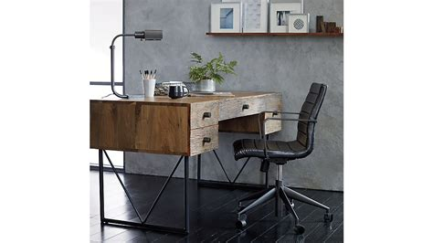 graham black office chair crate and barrel