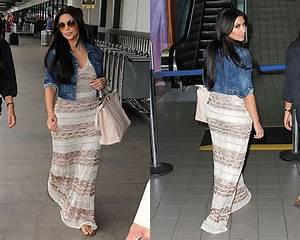 Kim Kardashian in bebe Maxi Dress – CelebrityFashionista.com
