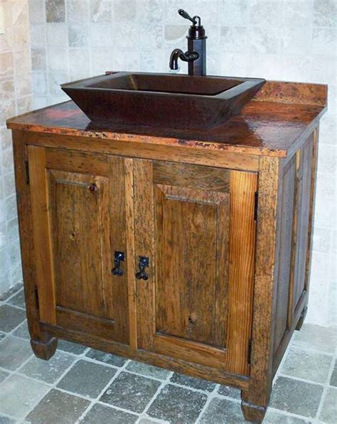 17 best ideas about wooden bathroom vanity on rustic bathroom sink faucets wooden