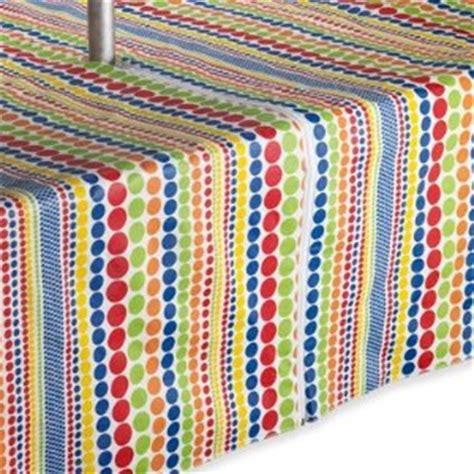 dot stripe 84 quot oblong umbrella vinyl