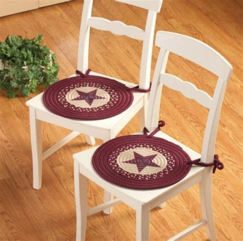 2 pc western style country braided kitchen dining chair pad set new chairs chair pads