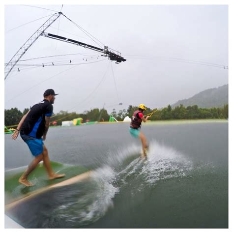 Wake Boat Hire South Australia by Ladies Day Busting Some Moves At A Cairns Water Park