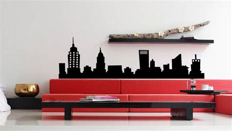 new york city nyc skyline mural vinyl wall decal sticky sticker home decor ebay