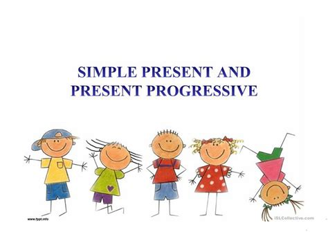 Simple Present Tense Versus Present Progressive Exercises  42 Free Esl Present Simple Vs