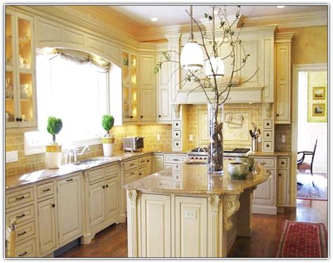 Tuscan Kitchen White Cabinets  Home Design Ideas