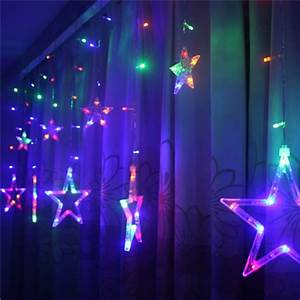 Fenster Licht Deko : led sterne lichtervorhang lichterkette licht fenster deko par feierbeleuchtung ebay ~ Markanthonyermac.com Haus und Dekorationen