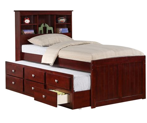 250tcp cappuccino size bookcase trundle captains bed and captain bed with storage and