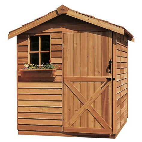 6 x 8 foot wooden shed shop cedarshed common 6 ft x 9 ft interior dimensions
