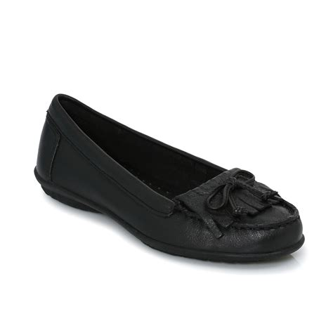 hush puppies ceil mocc kl black womens flats ballerina