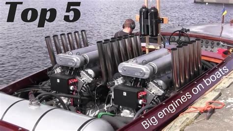 Boat Engine Video top 5 big engines in small boats inboard open boat