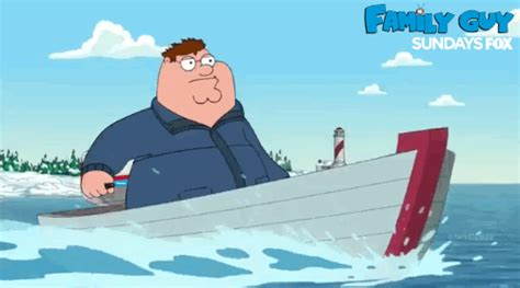 Peter Griffin Boat by Family Guy Gif By Fox Tv Find Share On Giphy