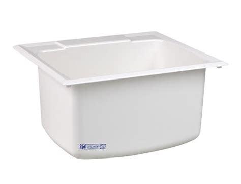 mustee 25 in x 22 in fiberglass self utility sink
