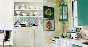 Küche Tapezieren Ideen : 20 kreative ideen f r tapeten im k chenbereich ~ Markanthonyermac.com Haus und Dekorationen