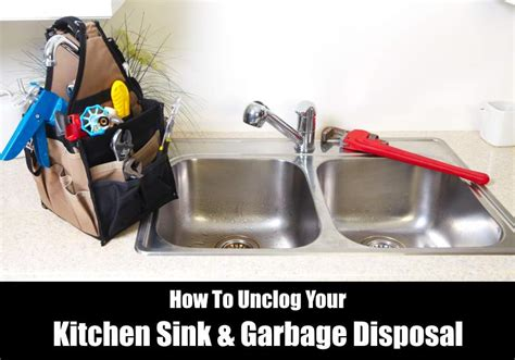 how to unclog a sink garbage disposal kitchensanity