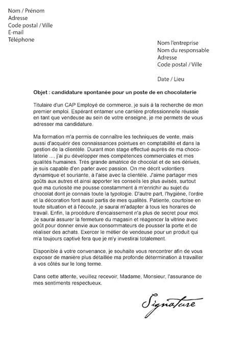 lettre de motivation vendeuse pret a porter sans experience