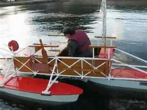 Small Boat Voyages Youtube by Homemade Pontoon Boat In Namsos Youtube