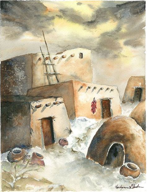 pueblo they are common to the southwest desert the earth 13 best images about home on watercolors