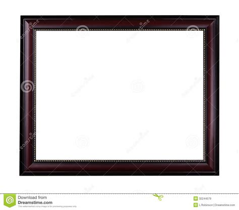 cadre de tableau d acajou en bois images libres de droits image 32244579