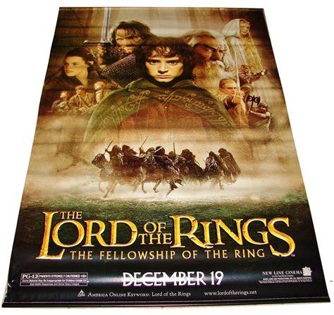 2001 Lotr Fellowship Of The Ring Vinyl Movie Theater Lobby
