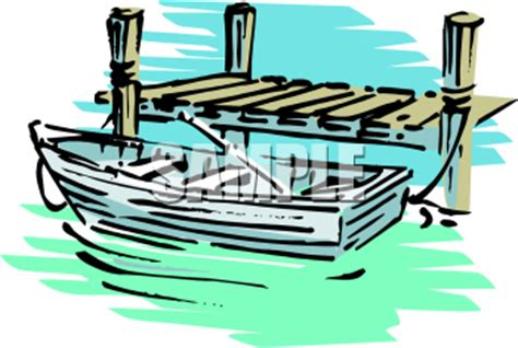Cartoon Boat Dock by Clip Art Sailboat With Dock Clipart