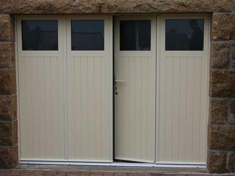 portes de garage sectionnelles laterales et battantes prestige fermetures