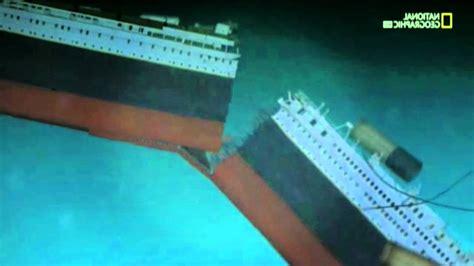 titanic the sinking animation