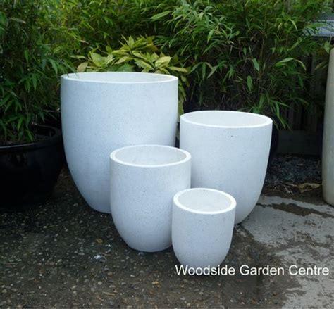 large white terrazzo u pot planters woodside garden centre pots to inspire