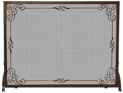 Uniflame Bronze Single Panel Fireplace Screen With