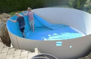 Stahlwandpool In Erde Einlassen : pool einbauen ohne beton ~ Markanthonyermac.com Haus und Dekorationen