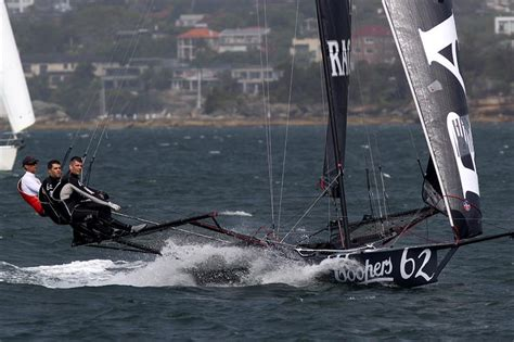 Skiff Club Double Bay by 18ft Skiff Club Chionship On Sydney Harbour Race 4