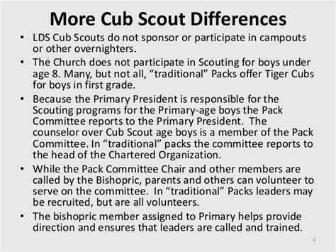 10 2010 lds scouting for the primary organization ppp