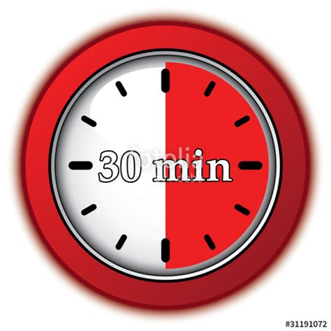 """""""30 Minutes Icon"""" Stock Image And Royaltyfree Vector Files On Fotoliacom  Pic 31191072"""