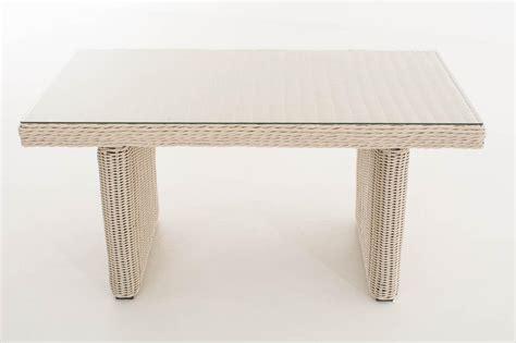 Tisch Weiß Gartentisch Garten Polyrattan Terrassentisch