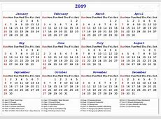Free Download Yearly Calendar 2019 Template Turkey