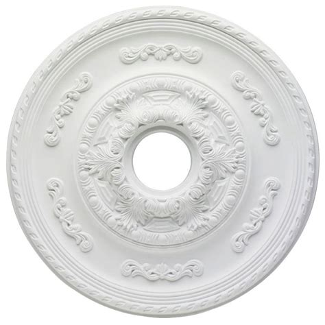 westinghouse sofia 21 in white ceiling medallion 7775700