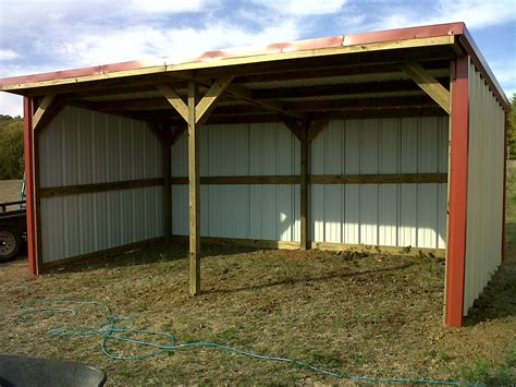 10x20 loafing shed farm buildings shelter barn and