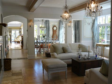Pretty French Country Curtain Shabby Chic Living Room