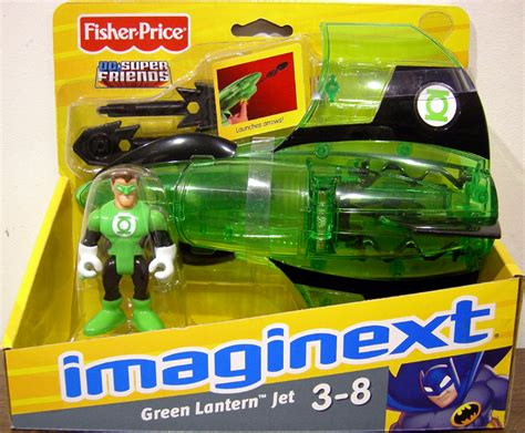 green lantern jet imaginext vehicle with figure fisher price