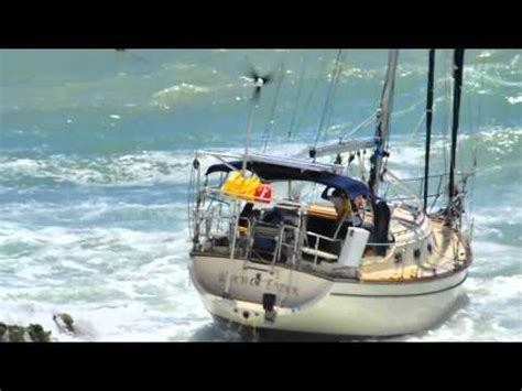 Annapolis Boat Show Webcam by Between A Rock And A Hard Place Sailing Boat Crash Doovi