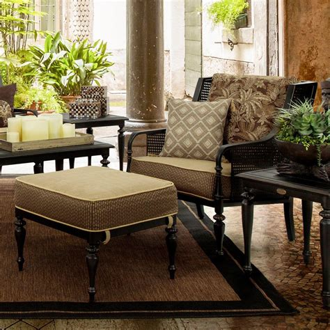 bombay outdoors sherborne 2 patio chair and ottoman set with palmetto cushions a004566