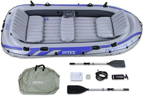 Inflatable Boats Qatar by Intex Excursion 5 Inflatable Raft Set 68325 Gray Price