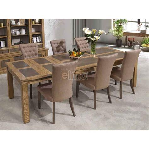 table salle 224 manger ch 234 ne massif pieds bois plateau c 233 ramique gbs1948