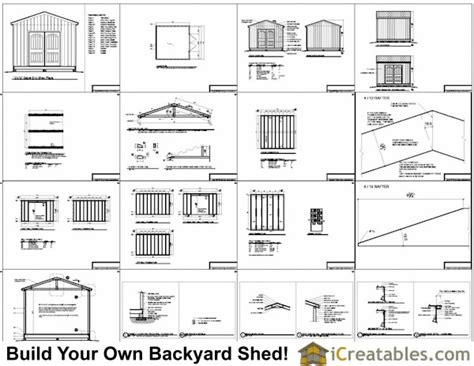 12x12 shed plans gable shed storage shed plans icreatables